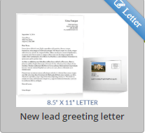 New lead greeting letter- Approximately $1.50 with SendJim