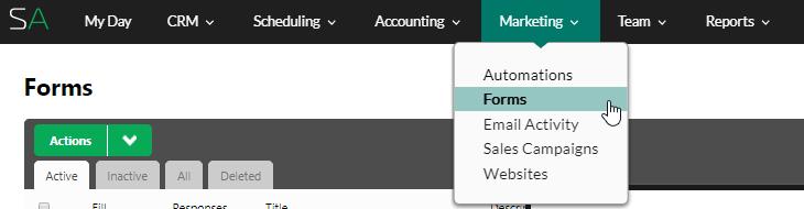marketing forms SA
