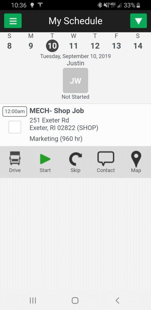 Service autopilot mobile app