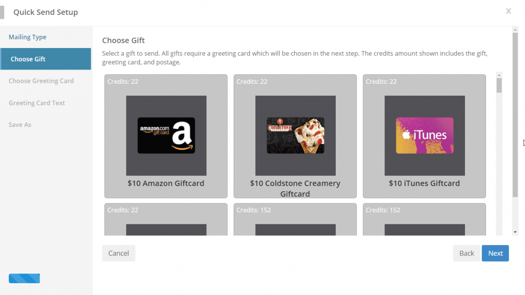 SendJim has a variety of gift cards to choose from, which can be sent with or without a gift card