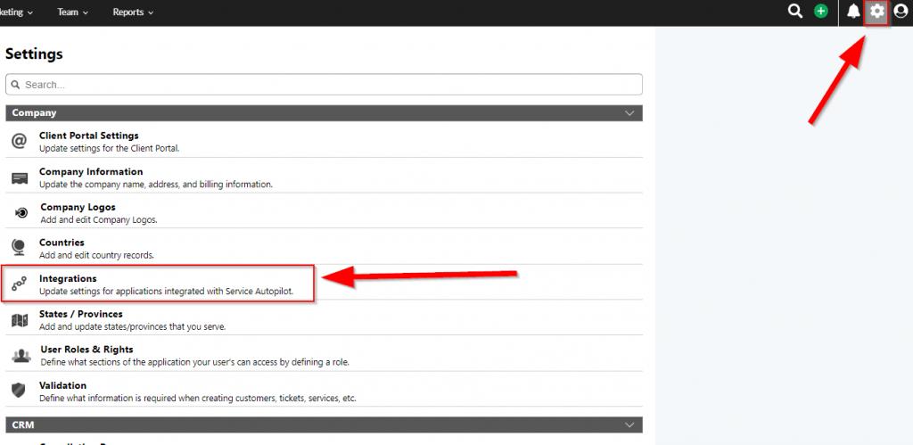 SendJim Service Autopilot Integration