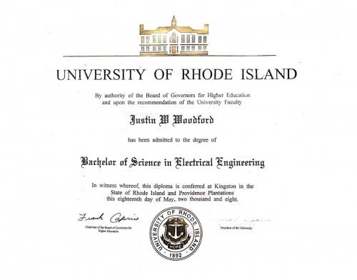 Justin has a BS in electrical engineering from the University of Rhode Island with  Business Minor
